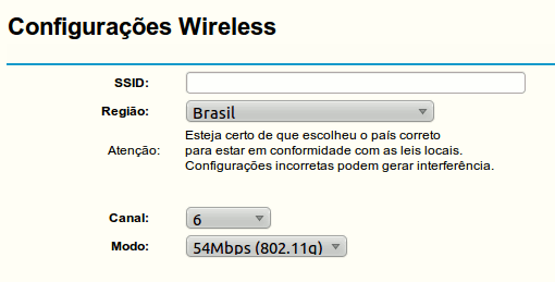 Configuração Wireless do modem Intelbras WRG 240E